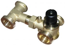3-way mixing valve with T extension
