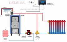Celsius Clasice P-V 40 (mare ușă de ardere) sistem simplificat