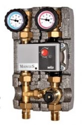 """Pump unit with electronic mixing valve 3/4"""""""