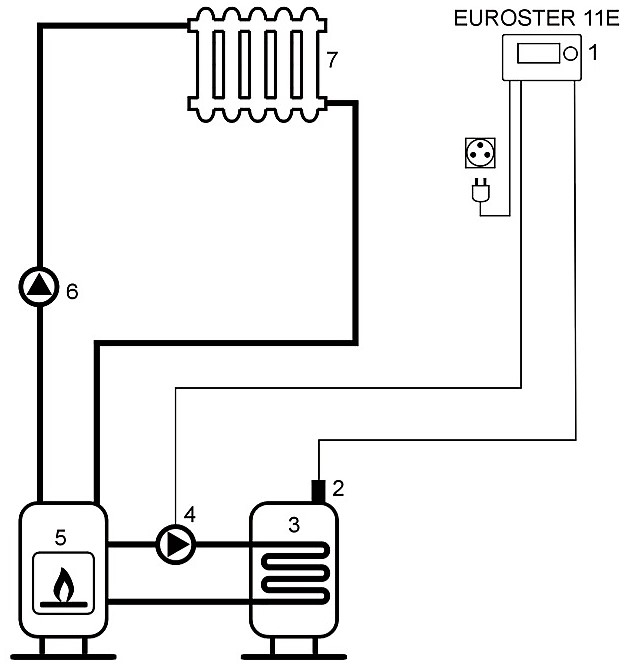 11E hot water diagram