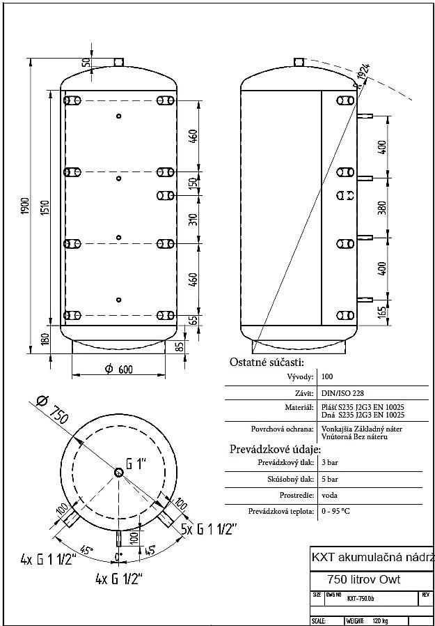 Celsius izolované akumulačné nádrže