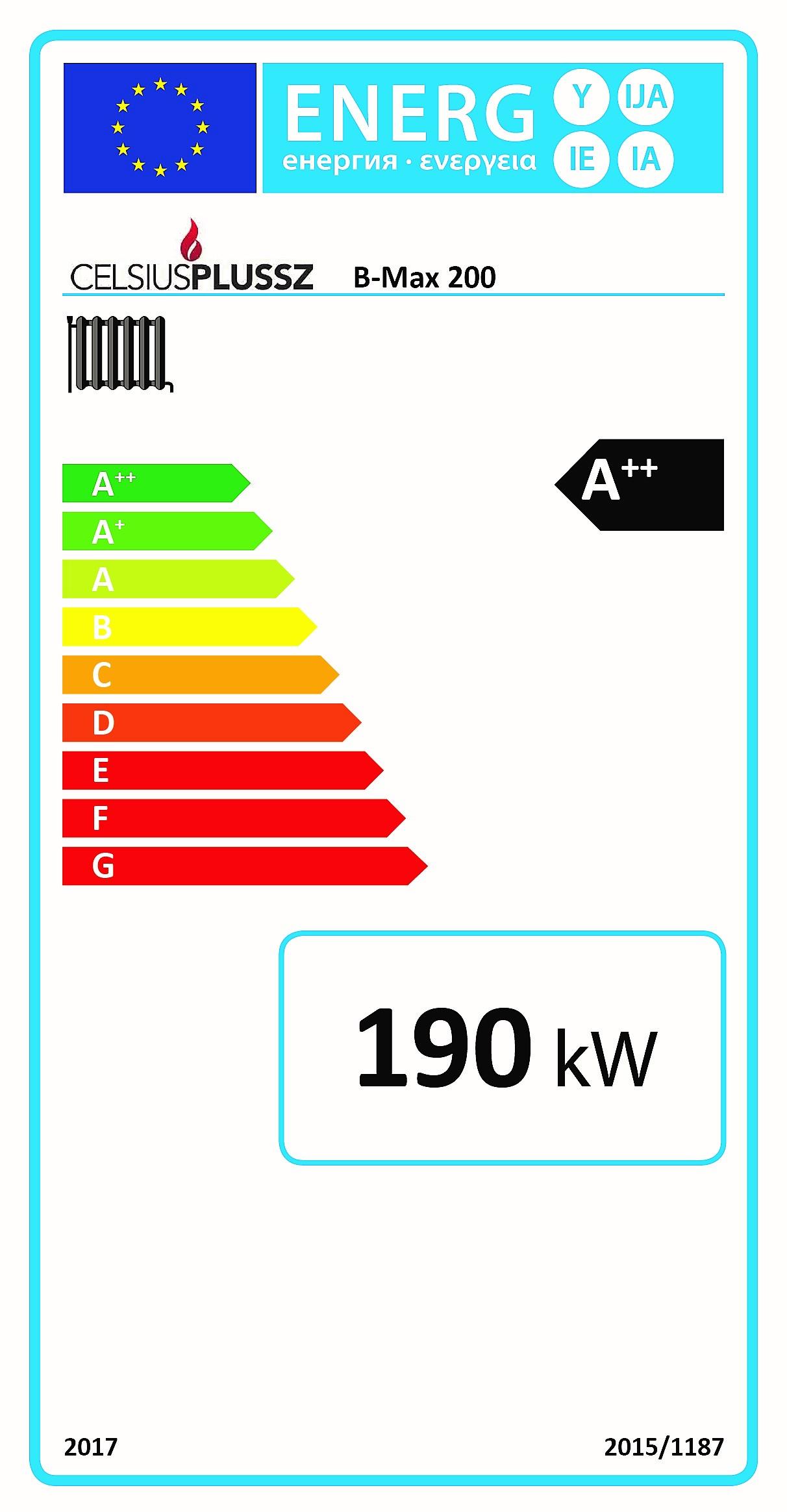 Celsius B-max energiacímke