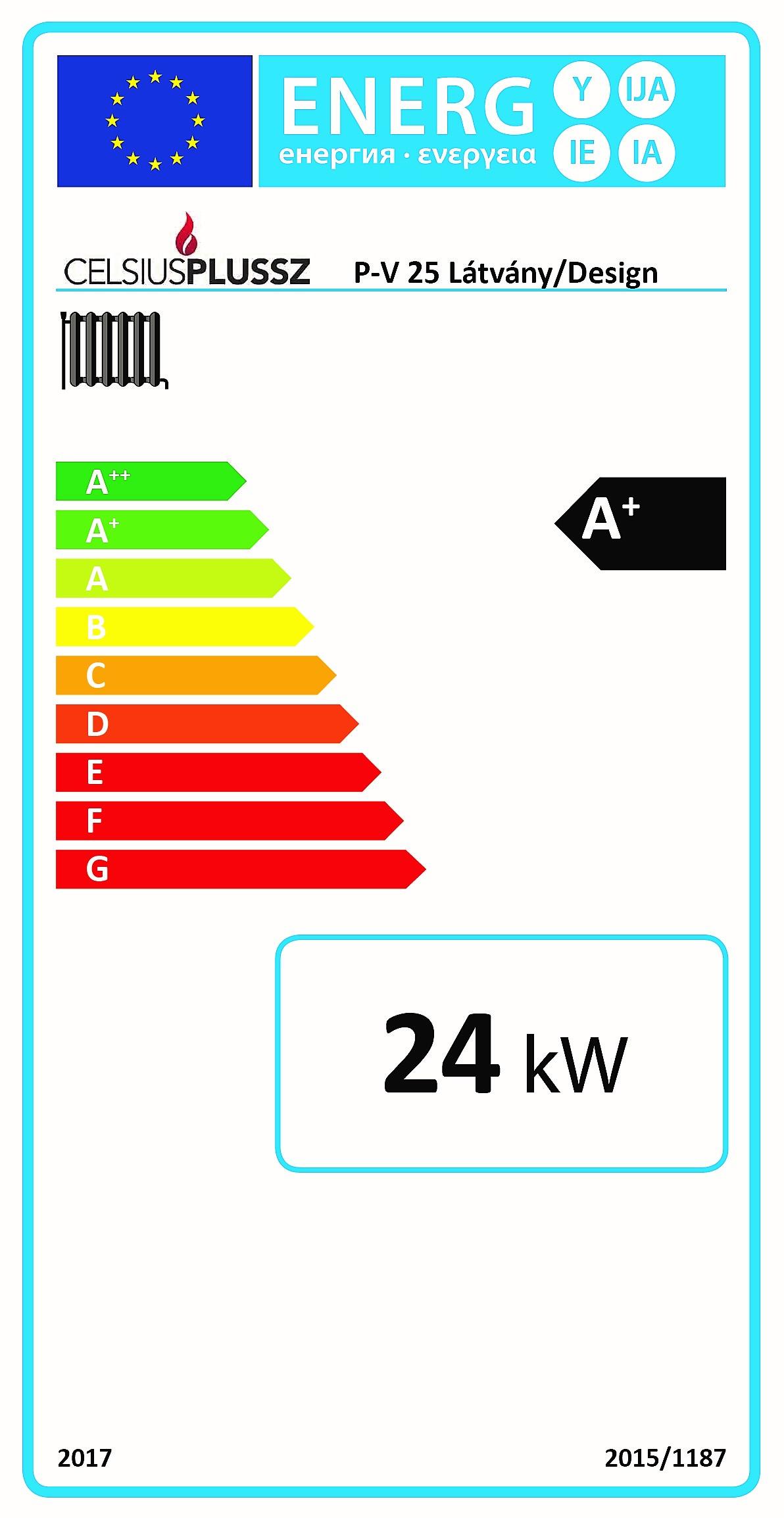 Celsius P-V 25 design energiacímke