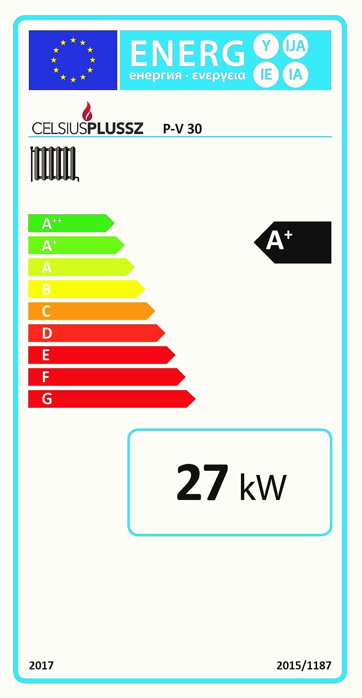 Celsius P-V 30 energiacímke