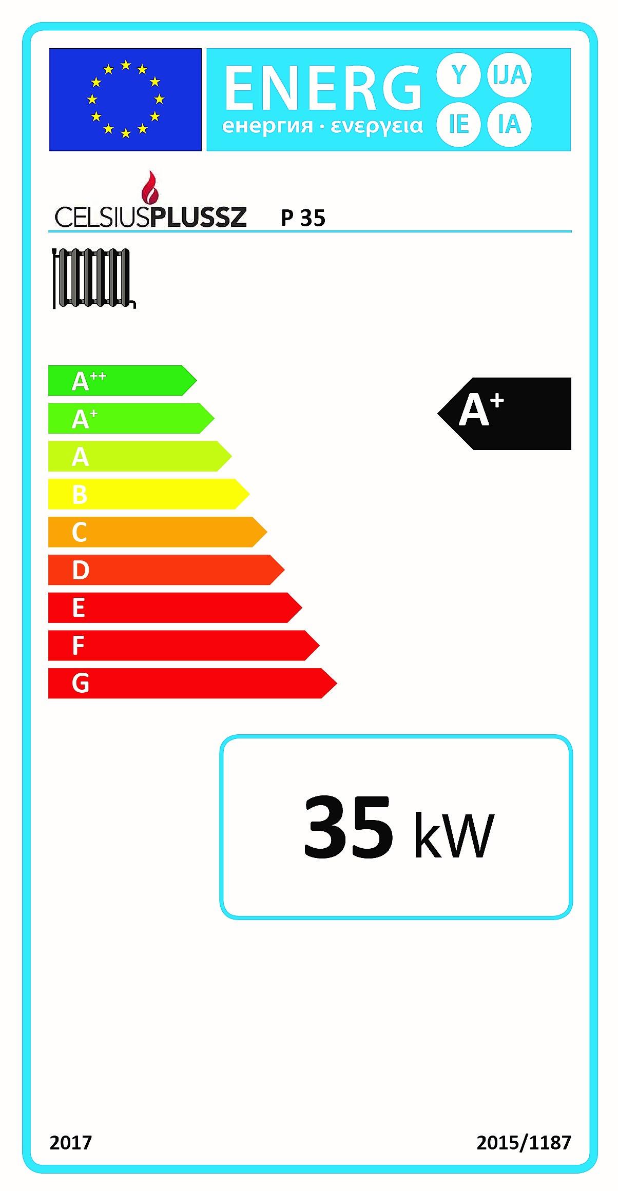 Celsius P 35 energiacímke