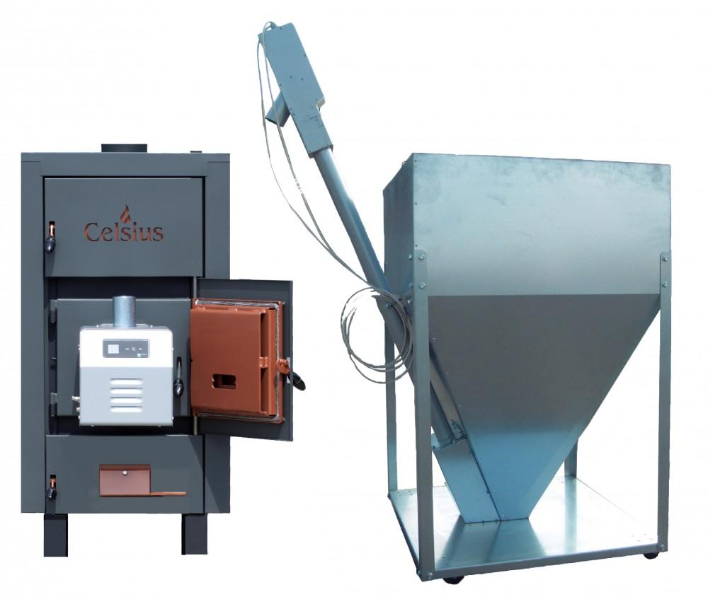 Combi Combi Pellet/Fa tüzelésű berendezés 50-56 (Égő 50kW)