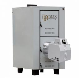 Celsius B-max boiler with 100 kW pellet burner