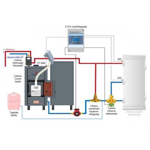 Celsius Combi 29 - 34 Fa/Pellet berendezés rendszer puffer nélkül