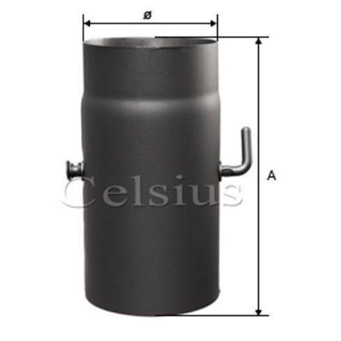 Tub de flacără din otel cu clapetă - 132 mm