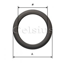 Steel flue covering ring - 132 mm