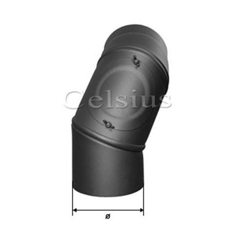 Cot 90° reglabil tub de flacără din oţel - 200 mm