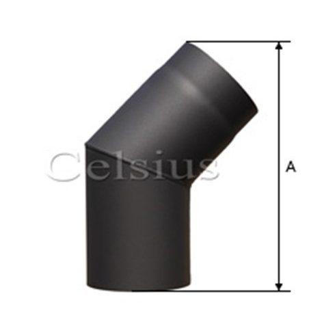 Cot 45° tub de flacără din otel - 200 mm