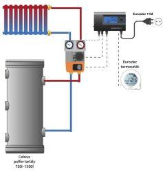 """Sistem secundar de încălzire două căi fără supapă cu un circuit 5/4"""""""