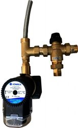 Scald protection valve with timer circulation pump Kvs 4