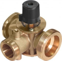 3-way mixing valve with by-pass