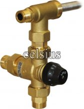 Scald protection valve with T extension