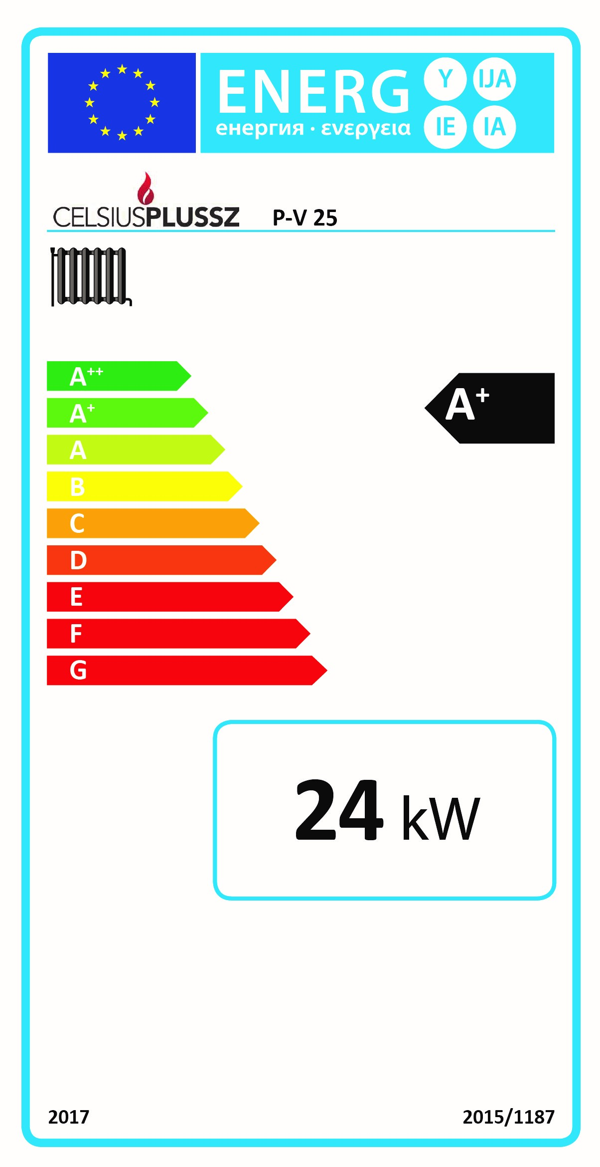 Celsius P-V 25 energy label
