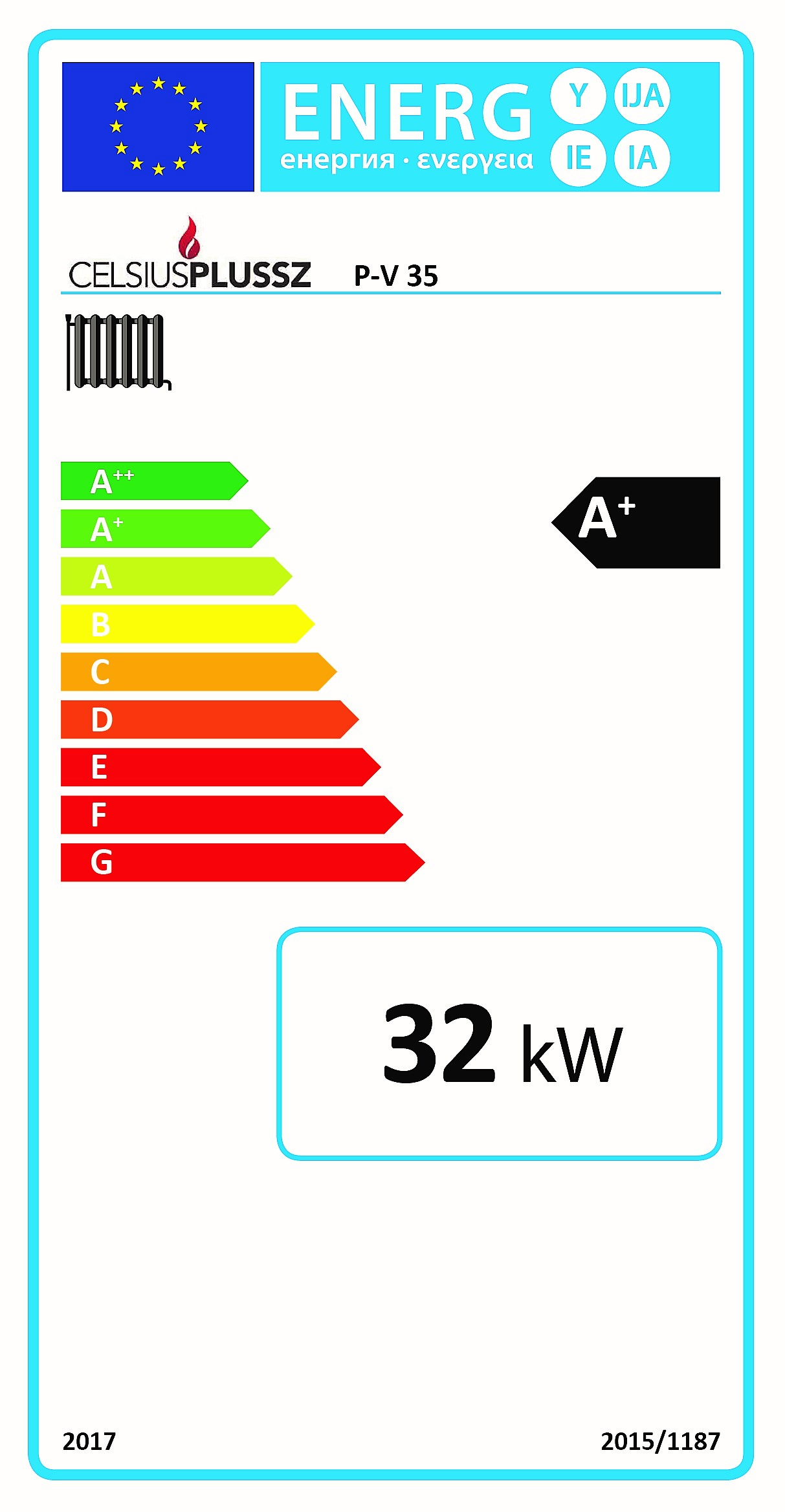 Celsius P-V 35 energiacímke